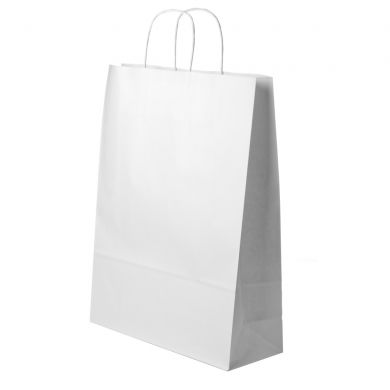 White Paper Bag With Twisted Paper Handles 2411x31cm