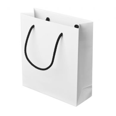 White Paper Bag With Rope Handles 16 6x18cm