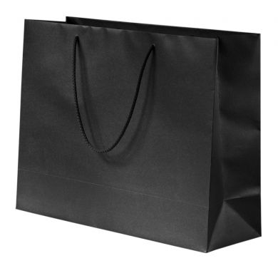 Glittery Black Paper Bag With Rope Handles 5613x39cm
