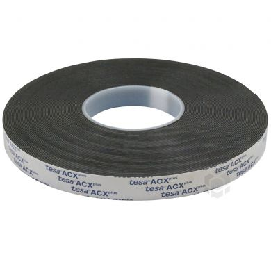 dcec42bddc1 Black double-sided acrylic tape Tesa ACXplus 19mm wide