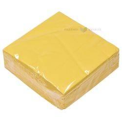 3-kihiline kollane salvrätik 33x33cm, pakis 50tk