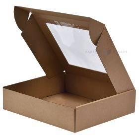 Lainepappkarp kaanega ja aknaga 330x300x80mm