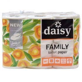 3-kihiline tualettpaber Daisy Family Soft 9,6cm lai rullis 21m, pakis 12rulli