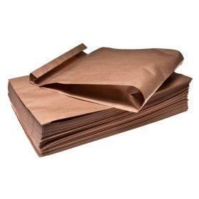 Pruun paberkott 24+8x45cm 80g/m2, pakis 100tk