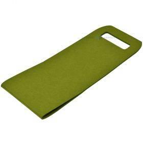 Sangadega roheline vildist pudelikott 16x45cm