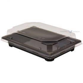 Must sushikarp läbipaistva kaanega 18x12,5x5cm, pakis 50tk