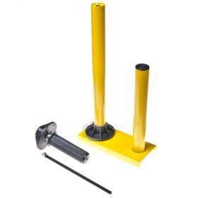Kollane metallist käsihoidik 30-50cm laiale pakkekilele