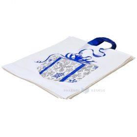 Palesangaga valge kilekott ''Kingitus'' 40x45+2x5cm, pakis 50tk