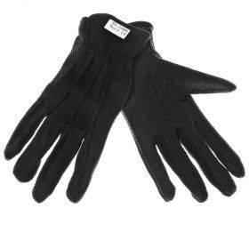 Mustad puuvillasest riidest sõrmikud peopesal PVC mikropunktid nr. 8