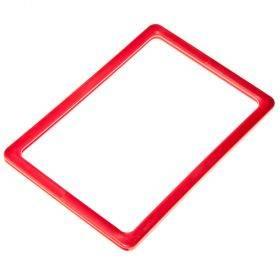 Punane plastmassist raam A4