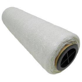 Valge pakkevõrk 50cm lai, rullis 3000m