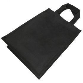 Sangadega must non-woven materjalist tekstiilkott 30+12x40cm