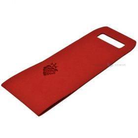 Sangadega punane vildist pudelikott 16x45cm