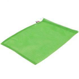Nööriga polüesterkangast roheline kott 25x30cm