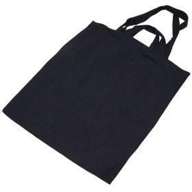 Topelt sangadega must tekstiilkott 40x45cm paksus 240g/m2