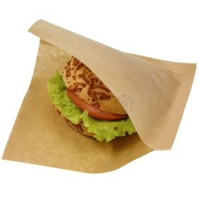 Lamineeritud pruun hamburgeritasku 16,5x16,5cm, pakis 100tk