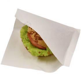 Lamineeritud valge hamburgeritasku 16,5x16,5cm, pakis 100tk
