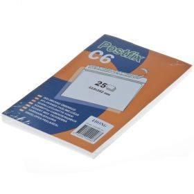 Iseliimuv postiümbrik Postifix C6, pakis 25tk
