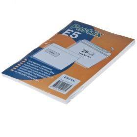 Aknaga iseliimuv postiümbrik Postifix E5, pakis 25tk