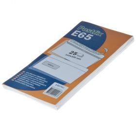 Aknaga iseliimuv postiümbrik Postifix E65, pakis 25tk